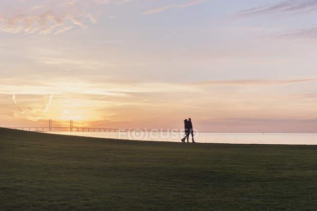 Scenic view of sunrise in Malmo, Sweden — Stock Photo