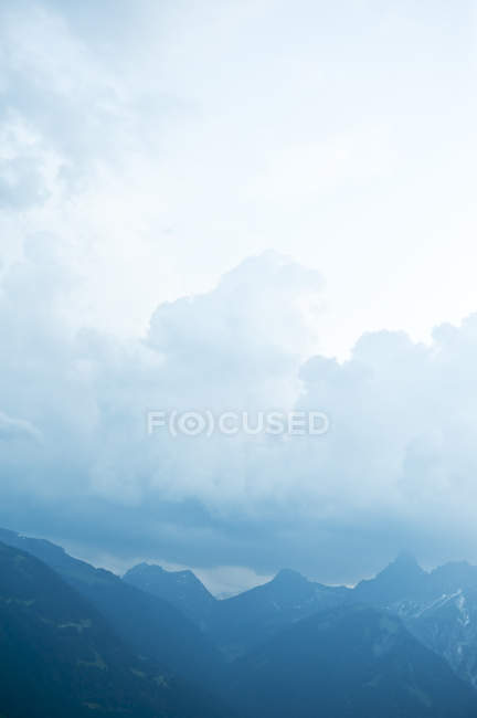 Majestic mountain range in fog, Austria — Stock Photo