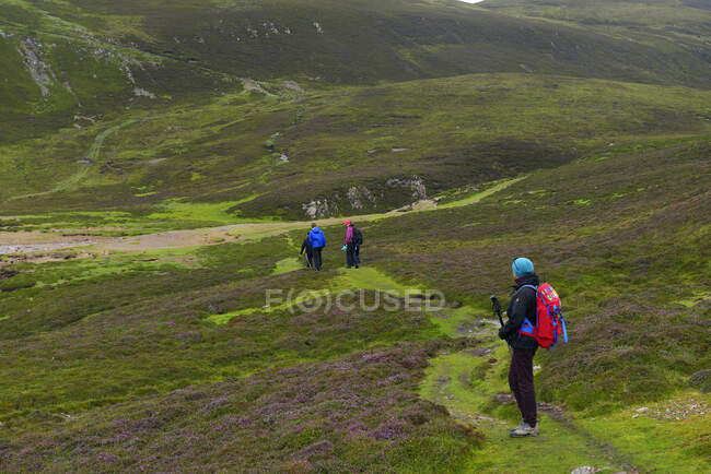 Group of women hiking in Muckle Roe, Scotland — Stock Photo