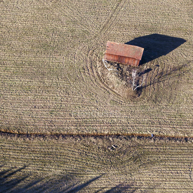 High angle view of barn in Finsta, Sweden — Stock Photo