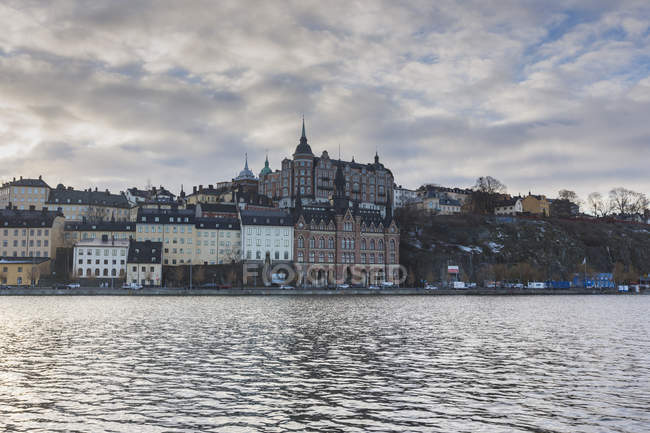 Buildings across water in Stockholm, Sweden — Stock Photo