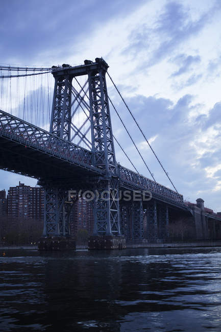 Williamsburg Bridge in New York City, Städtisches Motiv — Stockfoto