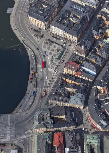 Veduta aerea della città vecchia di Stoccolma, Svezia — Foto stock