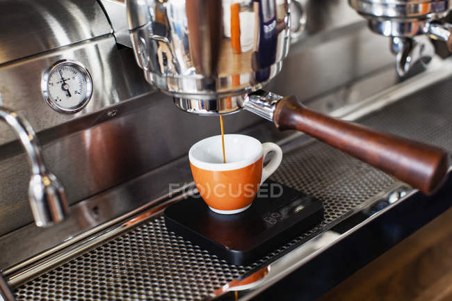 Close-up of espresso maker, differential focus — Stock Photo