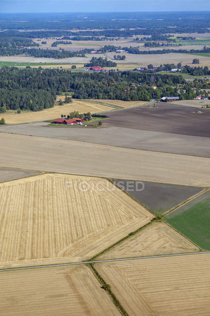High angle view of agriculture fields — Stock Photo