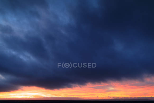 Cloudy sky during sunset, scandinavia — Stock Photo