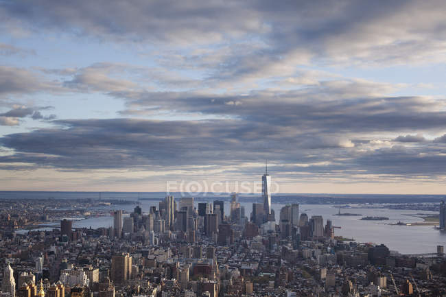 High angle view of downtown in New York City — Stock Photo
