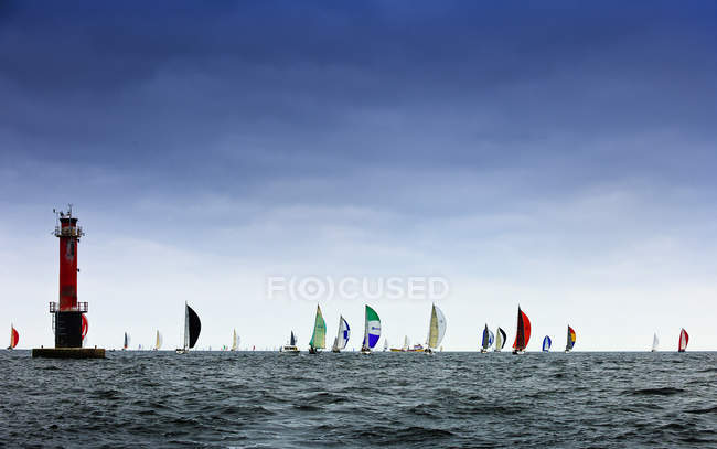 Segelregatta am Ozean, Nordeuropa — Stockfoto