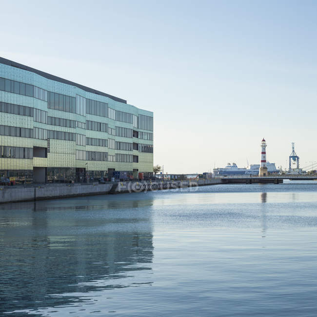 Facade of Malmo University in waterfront, kingdom of sweden — Stock Photo