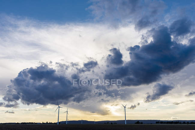 Windmills at sunset in Vaderstad, Sweden — Stock Photo