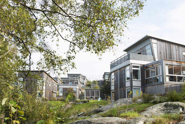 Buildings in Mansion in Gothenburg, Sweden — стокове фото