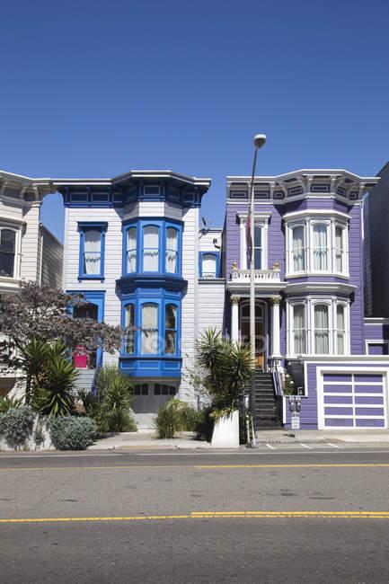 Case colorate in San Francisco, California — Foto stock
