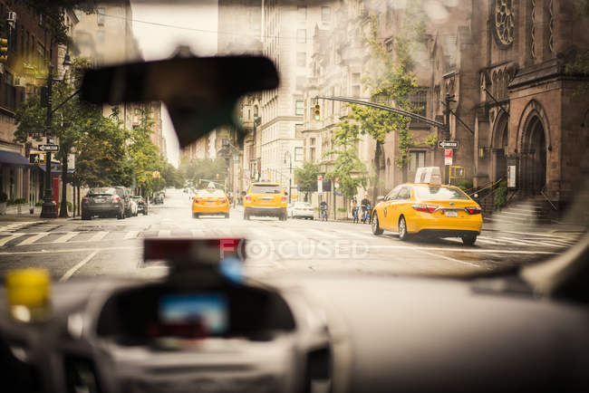 Painel de táxi, foco seletivo — Fotografia de Stock