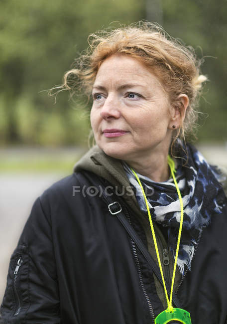 Portrait of woman, selective focus - foto de stock
