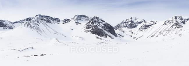 Neige sur les montagnes en Laponie, Suède — Photo de stock