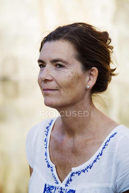 Retrato de mulher madura — Fotografia de Stock