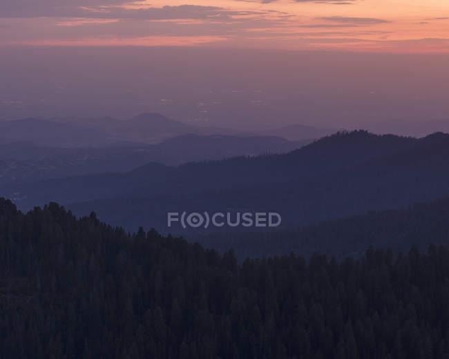 Національний парк Секвоя на заході сонця в Каліфорнії. — стокове фото