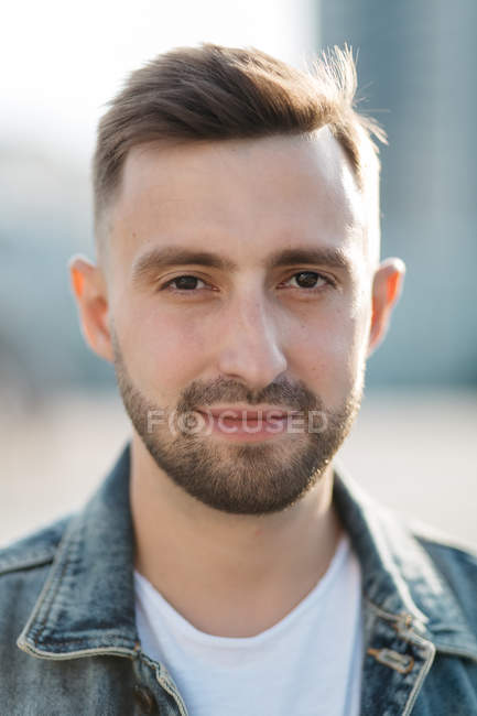 Front view portrait of man in casual clothing — Stock Photo