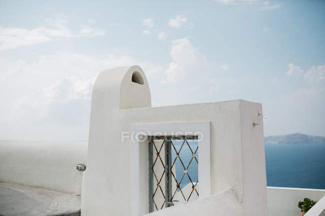Scenic view of architecture parts in majestic Santorini, South Aegean, Thira, Santorini, Greece — Stock Photo