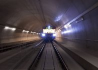 Driverless subway in tunnel, Nuernberg — Stock Photo