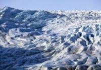 Flaajokull geleira na Islândia durante o dia — Fotografia de Stock