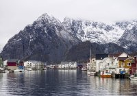 Fishing village in Lofoten, Norway — Stock Photo
