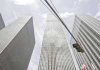 Low angle view of Skyscrapers in New York, USA — Stock Photo
