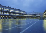 St. Mark's Square, in the evening, Venice, Italy — Stock Photo