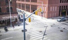 Straßenkreuzung in Detroit, Usa — Stockfoto