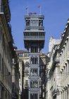 Lisbon, Old Town Elevador. Elevador de Santa Justa, Portugal — Stock Photo