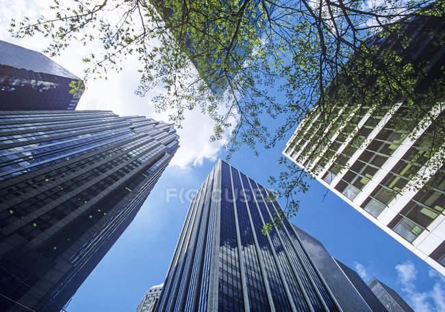 Fachadas de arranha-céus em Nova Iorque, EUA — Fotografia de Stock