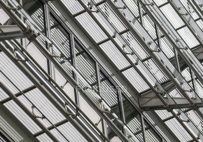 Steel frame of a roof construction — Stock Photo