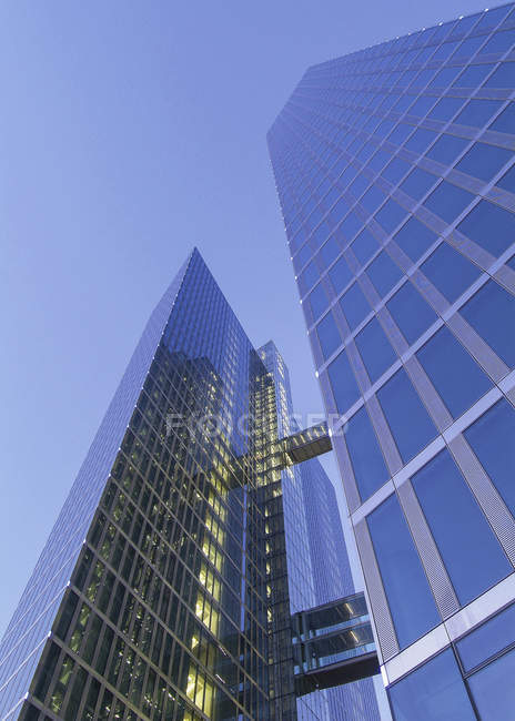 Office skyscraper with glass facade, Highlight Towers, Munich — Stock Photo