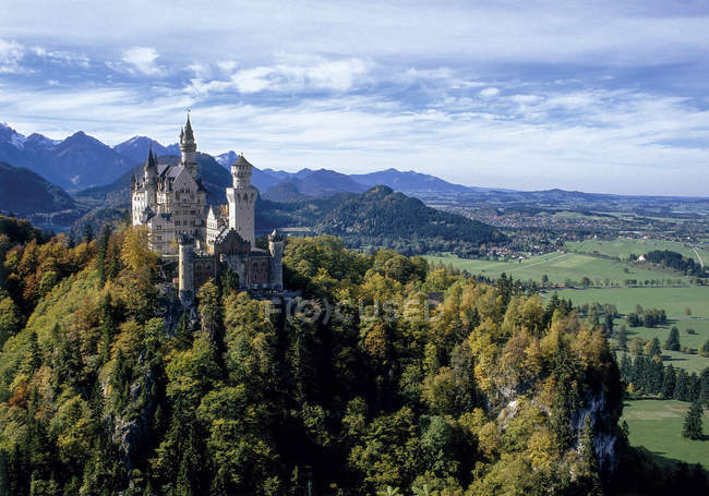 View of old castle on hill, germany — Stock Photo