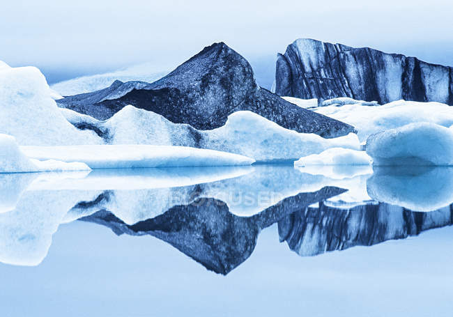 Крижин льодовика озера, Ісландія, у — стокове фото