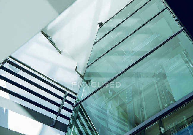 Steel and glass facade, detail — Stock Photo