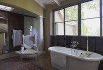 Bathroom at luxury modern house — Stock Photo