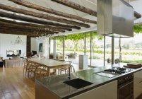 Open floor plan in luxury house — Stock Photo
