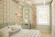 Luxury bedroom during daytime — Stock Photo