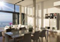 Salle à manger et espace de vie dans la maison moderne — Photo de stock