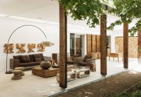 Luxury outdoor living room during daytime — Stock Photo