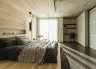 Interior de luxo da casa moderna, quarto — Fotografia de Stock