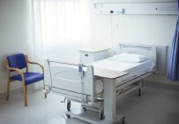 Empty bed in hospital room — Stock Photo