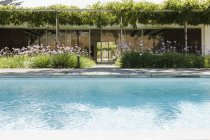 Modern house and swimming pool — Stock Photo