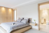Camera da letto e bagno di lusso — Foto stock