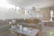 Moderno soggiorno e sala da pranzo — Foto stock