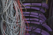Server room cable wires — Stock Photo