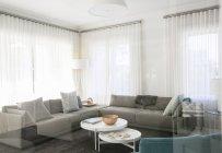 Home vetrina soggiorno con divani — Foto stock
