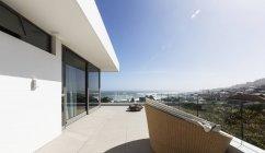 Sunny home showcase exterior balcony — Stock Photo