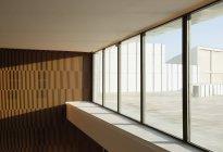 Sonne in Bürofenster — Stockfoto
